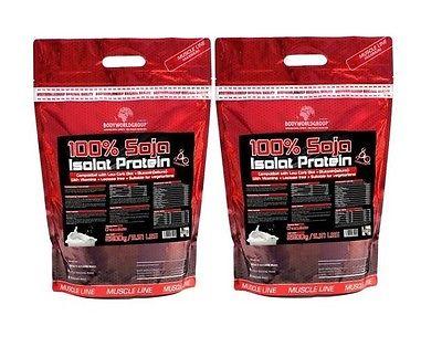 Soja-Isolat 9,98€/kg 2 x 2500g Eiweiß Soya Soja Sojapulver Eiweißpulver Protein