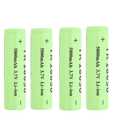 1/2/4/6/12x 5800mAh 3.7V 18650 Li-ion Rechargeable Battery for Flashlight F&
