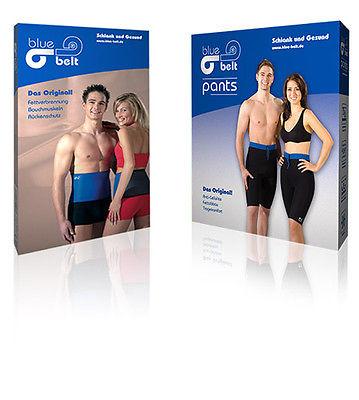 Blue Belt® Set  - Fettreduktion - Thermogürtel +Thermohose - Sauna Shorts Pants