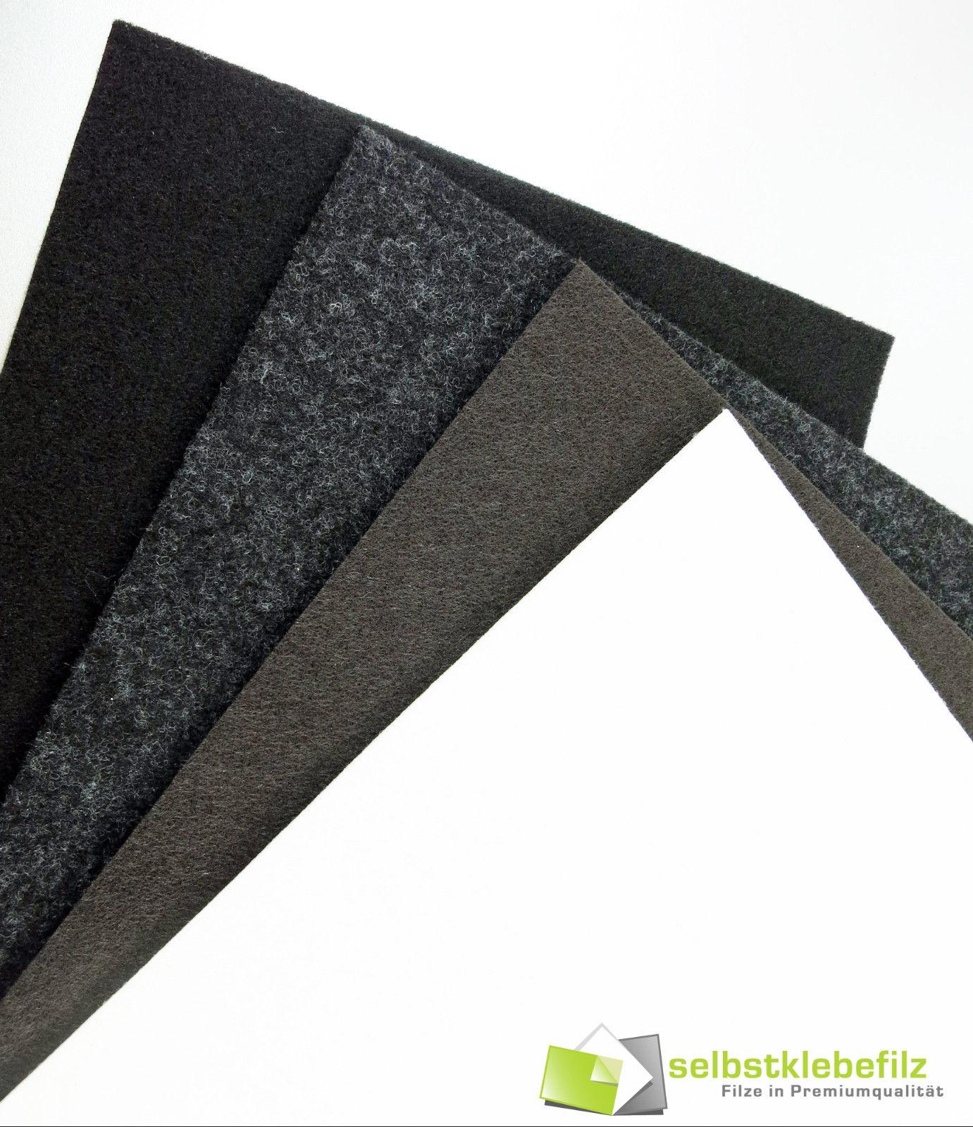 Filzplatte quadratisch, stark selbstklebend 5x5 - 90x90cm, Filzgleiter Filz 3mm