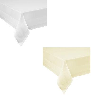 DAMAST Tischdecke Baumwolle Eckig 130 x 170 bzw. 170x130  cm Farbe wählbar