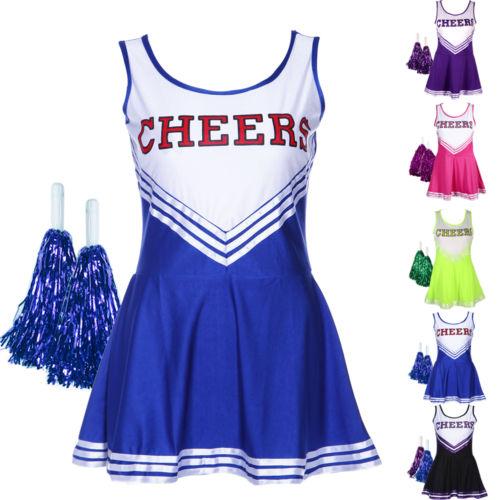 Cheerleader Kostüm Kleider Uniform Cheerleading Cheer Leader GOGO GIRL Minirock