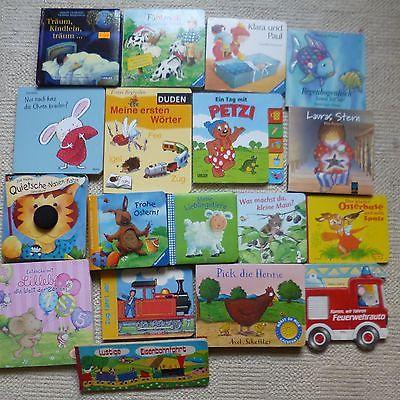 Paket Kinderbücher Kartonseiten Jungen Mädchen Kinder Bilder Bücher  18 Stück