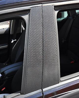 6x Tür leisten Zierleisten B Säule Verkleidung Folie Carbon schwarz Tuning F11