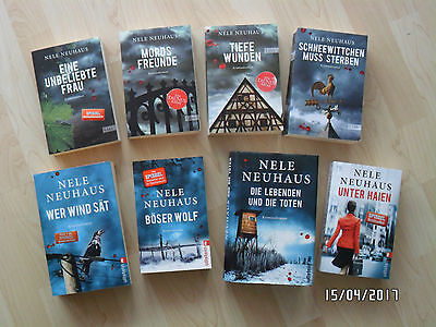 Bücherpaket 8 Bücher Taunus Krimi Thriller Nele Neuhaus