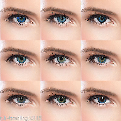 Blue coloured contact lenses | Natural | Cosplay | Blau