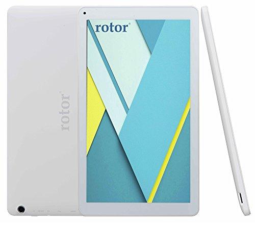rotor® 25,7 cm (10.1 zoll) Octa (8) Core-GPU - Lollipop Android 5.0 - Quad (4) Core Prozessor - 1 GB RAM - Tablet PC - 16 GB Flash- Bluetooth 4.0 - GPS - WLAN - WiFi - HDMI - Google Play Appstore Preloaded - Unterstützt alle 3D-Spiele, Musik, Anwendungen