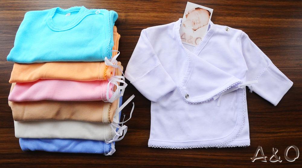 Flügelhemdchen Erstlingsshirt Baby Wickelshirt 50 56 62 68 Unisex Hemdchen Shirt