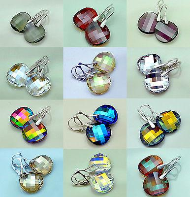 *TWIST* Ohrringe mit Swarovski Elements - Alle Farben ! Echt Silber - Geschenk