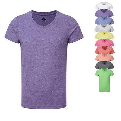 Russell Kinder Jungen HD T-Shirt V-Ausschnitt V-Neck kurzarm 116 128 140 152 164
