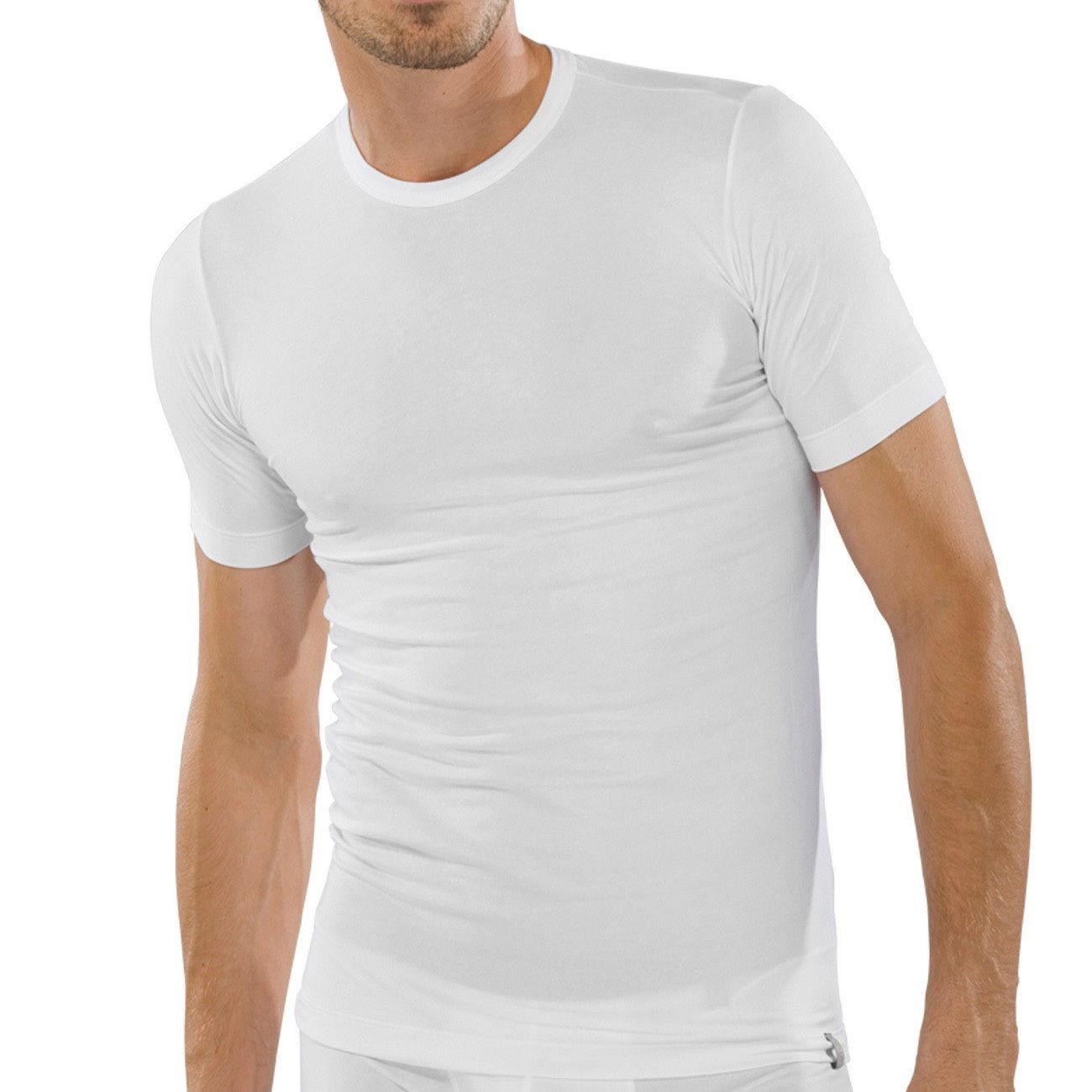 Schiesser Shirt Kurzarm, 3er Pack, Rundhals, 95/5 Reihe, Gr. S-XXL, Weiß
