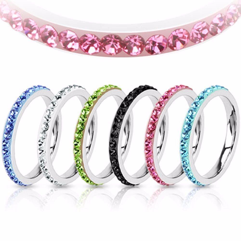 Herren Damen Ring silber Multi Zirkonia 4 Farben Größen -- SCHMUCK von ALLFORYOU