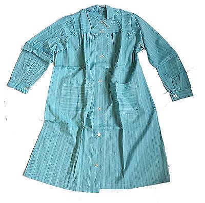 Nachthemd, Morgenmantel, Hauskleid, Schwedische Armee, Patientenkittel, türkis