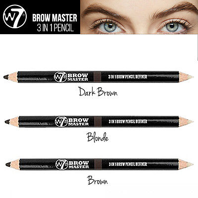 W7 Brow Master 3 in 1 Augenbraue Pencil Definer + Comb + Wax 3 Auge Brow Shades