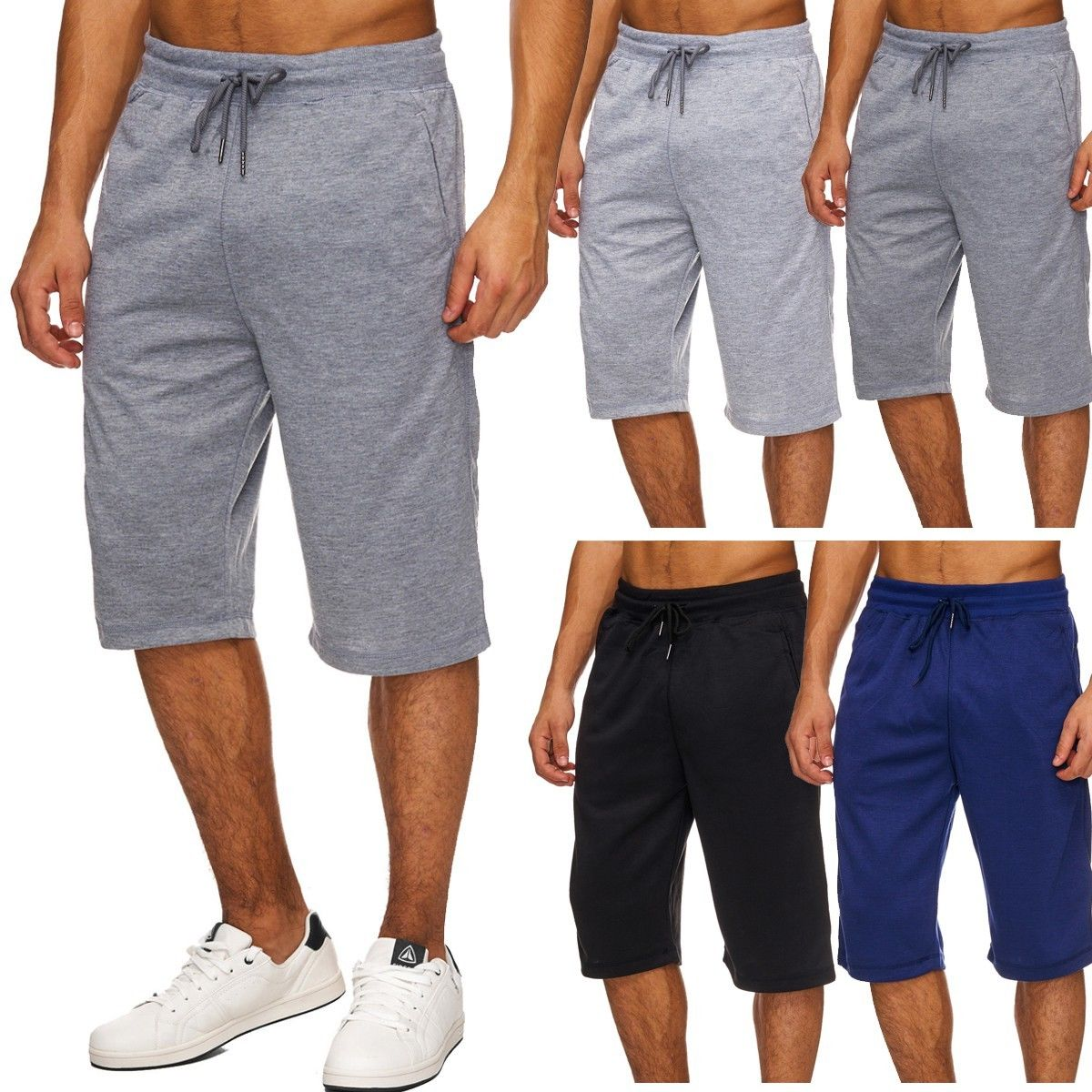 Herren Sportshorts Jogginghose Sweatshorts Fitness Sport Home 3/4 Basic Plus