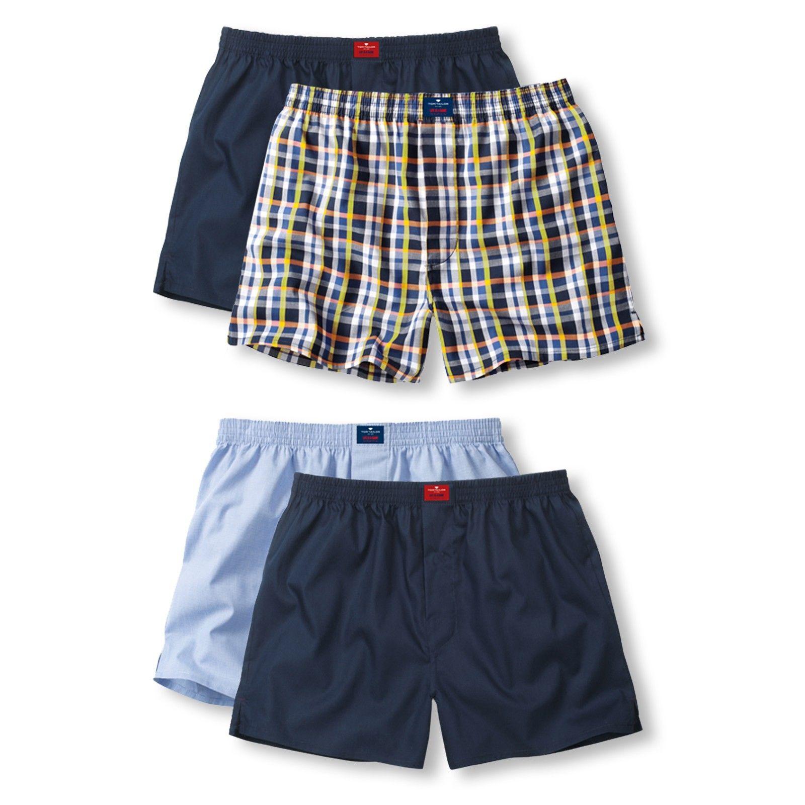 2er Pack Tom Tailor Webboxer Boxerhorts Shorts Unterhosen Westside M L XL XXL