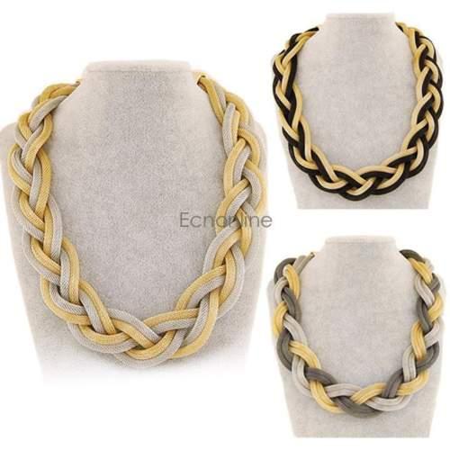 Böhmischen Frauen Rohe Metallgeflecht Kette Halskette Fashion Einfache Netz EO56