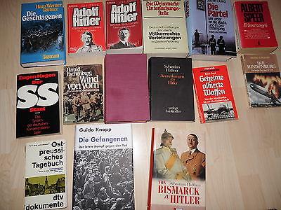 Buchpaket 15 Bücher Konvolut vom 2. Weltkrieg und 3.Reich