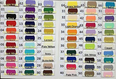Plain Solid POLYCOTTON FABRIC 2.50 PER METRE Lowest Price on Ebay 67 colours !!!