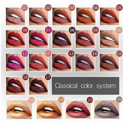 Beauty Waterproof Matte liquid lipstick Long Lasting lip gloss Lipstick 21 Color