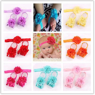 Neu Baby Mode Süß Cotton Kleinkind Unisex Rose Fuß Blumen Schuh Sandale Mädchen