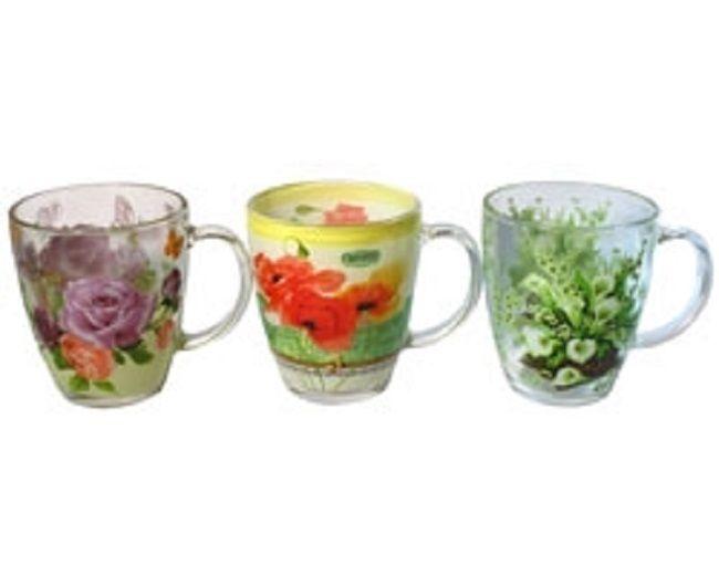 Glas Kaffeetassen*Kaffeebecher*Teetasse*Tasse*Konische Tassen 6St. INTEROS