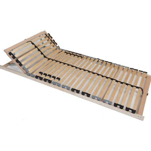TAURO 7-Zonen Lattenrost 140x200 cm | Geeignet für alle Matratzen | Kopfteil verstellbar | Komfort Lattenrost mit 28 Leisten