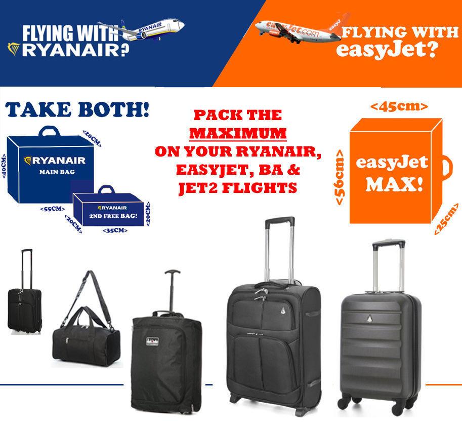 RYANAIR EASYJET BRITISH AIRWAYS BA MAX Hand Kabine Koffer 55x40x20 56x45x25