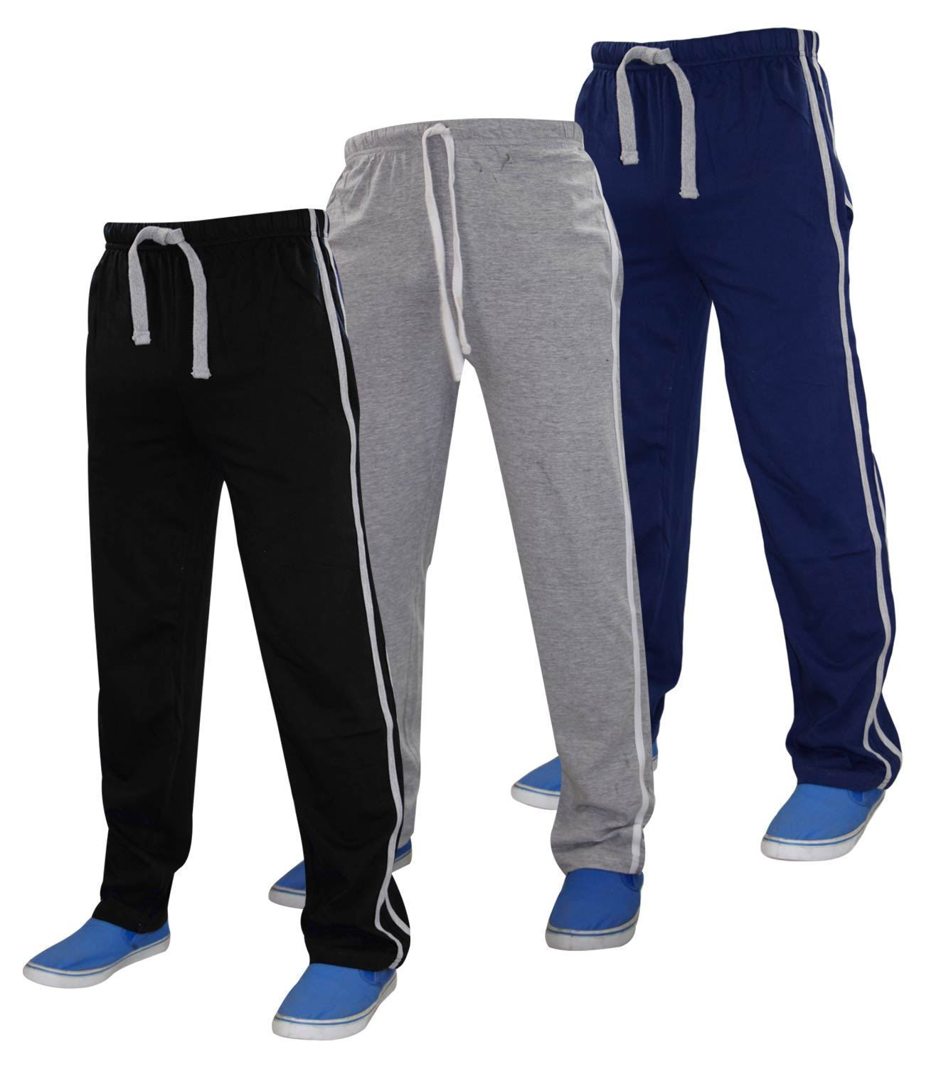 New Mens Authentic Gaffer Lounge Pants Elasticated Bottoms Casual 100% Cotton