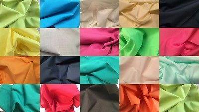 PLAIN FABRIC PER METRE FAT QUARTERS BUNTING SEWING CRAFT SEWING DRESSMAKING