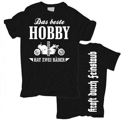 T-Shirt Das beste Hobby hat 2 Räder motorrad biker chopper custom streetfighter