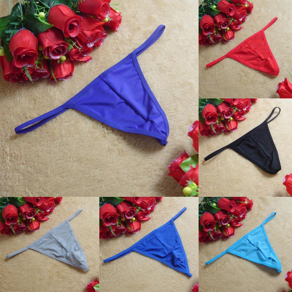 Sexy Herren Thong Slips G-String Tanga Unterwäsche Reizwäsche Unterhosen 7 Farbe