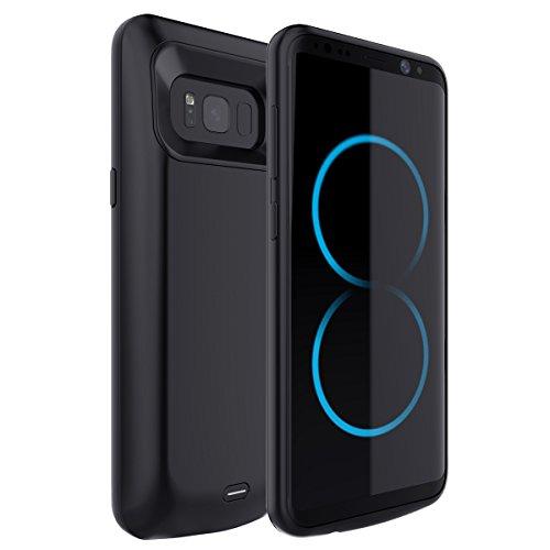 Samsung Galaxy S8 Plus 5500mAh Ultra dünnes Akku Case Hülle Handyhülle Moonmini® [Anti-Rutsch] [Stoßfest] Batterie Case eingebautem Akku für Samsung Galaxy S8 Plus?2017?