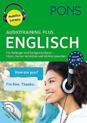 PONS Englisch lernen ohne Buch AUDIOTRAINING PLUS Hörkurs Sprachkurs von 2017