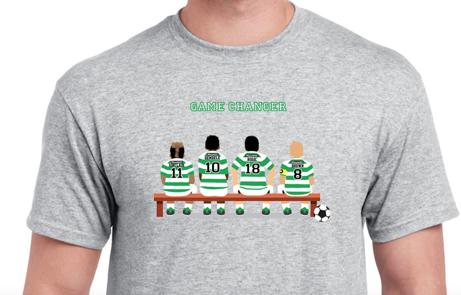 PERSONALISED FOOTBALL T-SHIRT-PICK YOUR OWN GAME CHANGING PLAYERS - TEAMS D - M