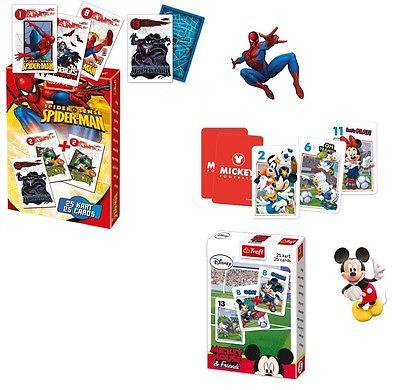 Disney Schwarzer Peter Kartenspiel Mickey Mouse Spiderman Quartett Quartettspiel