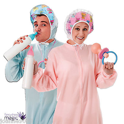 Adult Funny Sleepsuit Sleep Suit Baby Romper Grow Fancy Dress Costume Outfit Lot