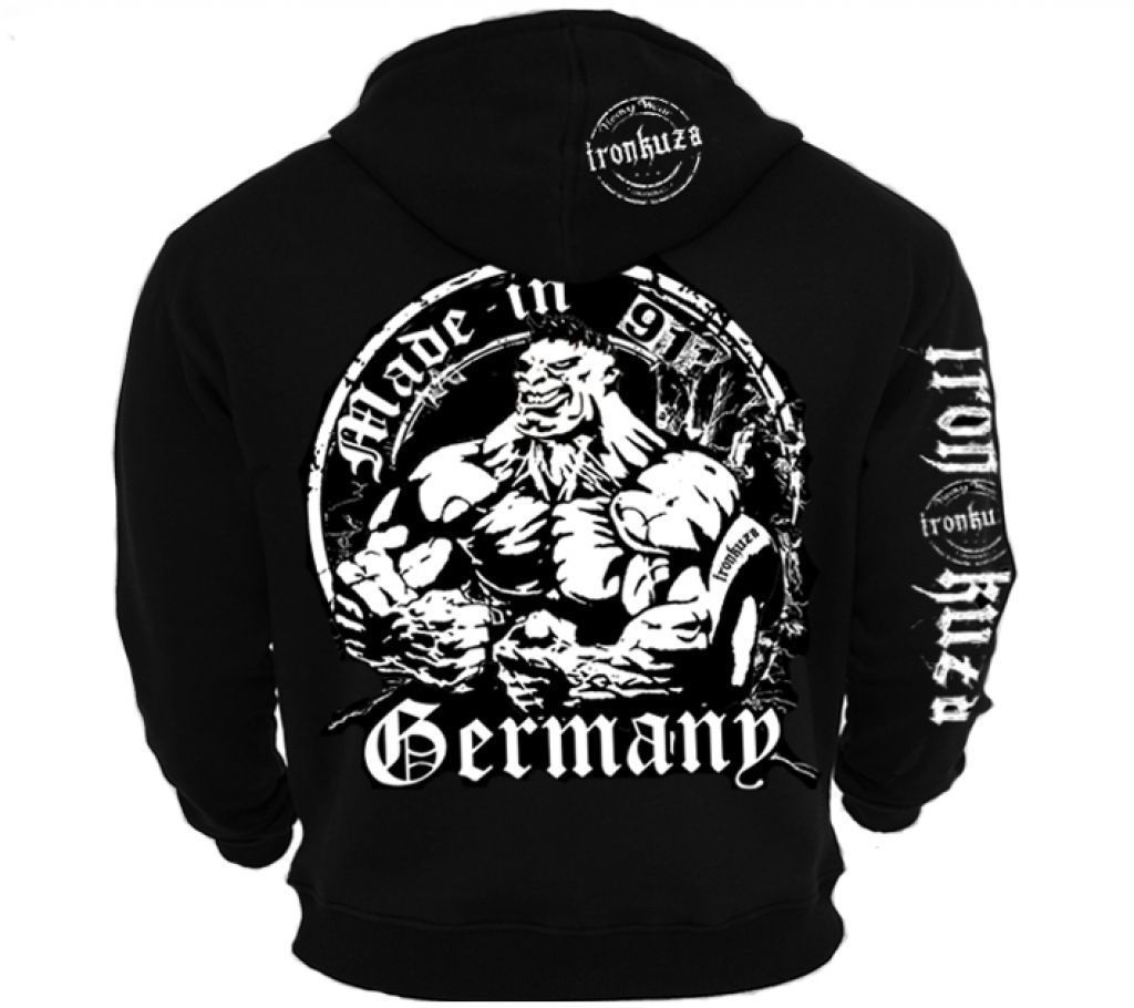Ironkuza Kapuzenjacke 'Made In Germany' - Fitness Bodybuilding Hoody