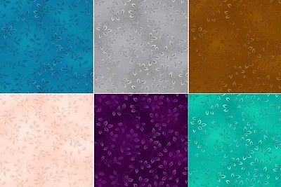 Stoff Patchworkstoff Folio Ton in Ton Uni schattiert Blätter floral Henry Glass