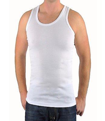 Herren Unterhemd Achselhemd weiß Tank Top Baumwolle S bis 5XL Übergröße 70000