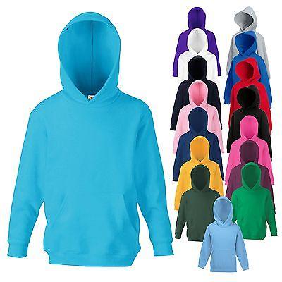 NEU - Fruit of the Loom - Kinder Hooded Sweater - Kids Hoodie - 16 Farben