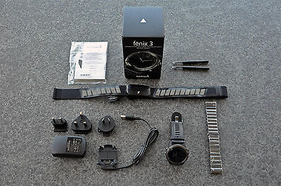 Garmin - Fenix 3 - Sapphire Edition - Multi-Sport Training GPS Uhr - HRM-Run
