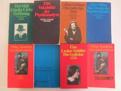 88 Bücher Taschenbücher suhrkamp Verlag