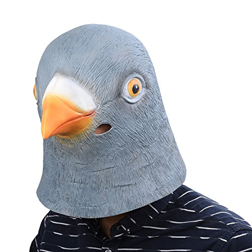 Party Story Halloween Maske Latex Taube Tiermaske Kostüm