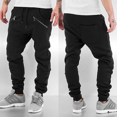 Urban Classics Herren Hosen / Jogginghose Zip Deep Crotch