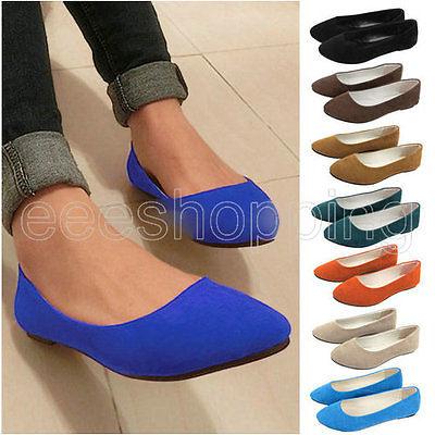 Fashion Prinzessin Damen Casual Flat Schuhe Ballerina Ballett Slip On Loafers