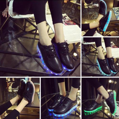 Blinkschuhe LED Schuhe Licht Sneaker Blinkschuhe Farbwechsel Shoes Lace-Up