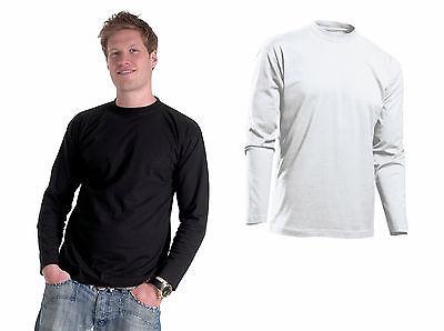 Langarm-Shirt Gr.S-3XL 4XL schwarz weiß T-Shirt Langarmshirt Pullover Sweatshirt