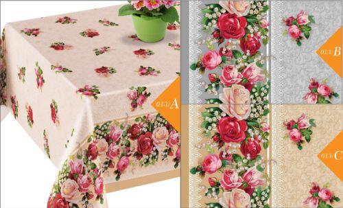 Wachstuch Wachstischdecke Abwaschbar 140cm breit Länge & Farbe wählbar