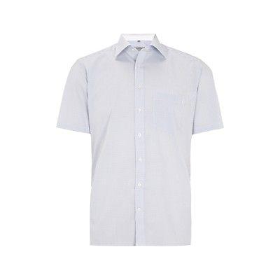 Christian Berg Men Business Hemd mit Gittermuster - bügelfrei Herren NEU